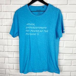 Original Penguin light blue graphic tee words L